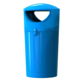 Metro Hooded Top Litter Bin - 100 Litre