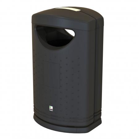 Pioneer Hooded Litter Bin - 130 Litre