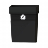 Regent Post or Wall Mountable Litter Bin - 30 Litre