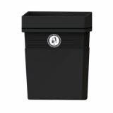 Regent Post or Wall Mountable Litter Bin - 30 Litre