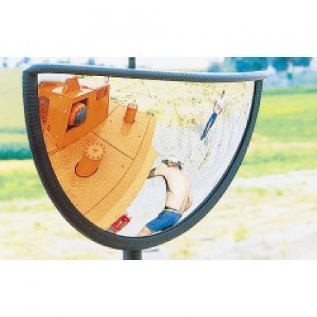 440 x 75 x 220mm Plant Machinery Safety Mirror