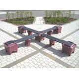 Modular Seating - Cross Shaped Bench