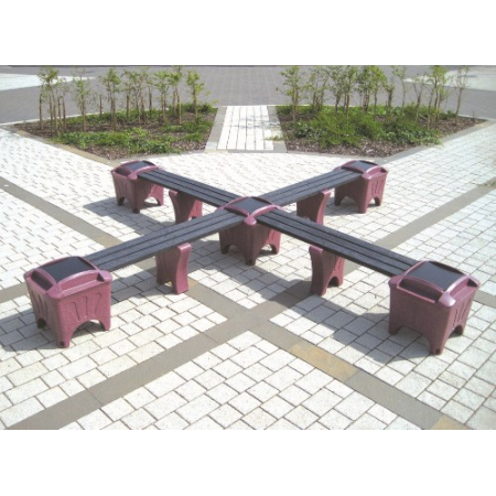 Modular Seating - Cross Shaped Bench