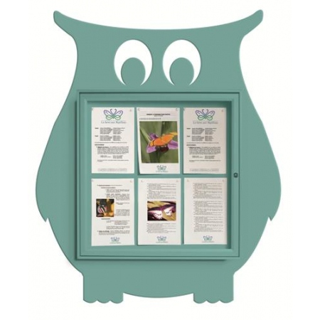 School Fun Owl 6x A4 Poster Case
