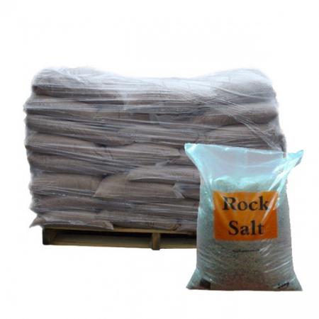 25 kg Brown De-icing Rock Salt x21 Bags - 525 kg