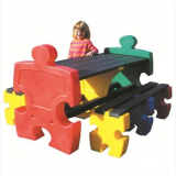 Jigsaw Table & Bench Set - 6 Seater
