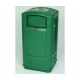 Rubbermaid Landmark Junior Litter Bin with Ashtray - 132 Litre