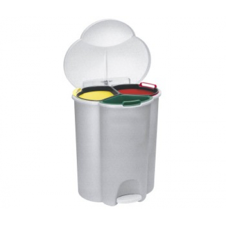 Rubbermaid Trio Pedal Operated Recycling Bin - 40 Litre