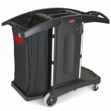 Rubbermaid Compact Folding Housekeeping Cart