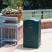 Rubbermaid Landmark Series ll Litter Bin with Ashtray - 189 Litre