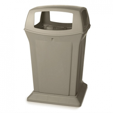 Rubbermaid Large Ranger Litter Bin with 4 Apertures - 170 Litre