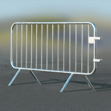 ECOBAR Galvanised Steel Crowd Safety Barrier