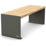 Kube Design Wood and Steel Bench