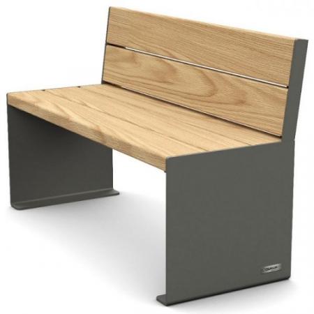 Kube Design Wood and Steel Seat