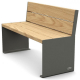 Kube Design Wood and Steel Seat