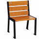 Silaos Wood and Steel Chair