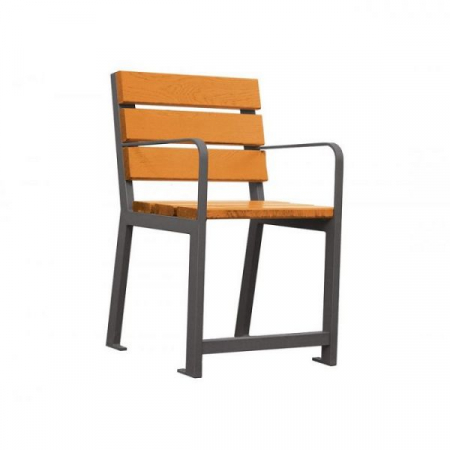 Silaos Wood and Steel Assist Chair