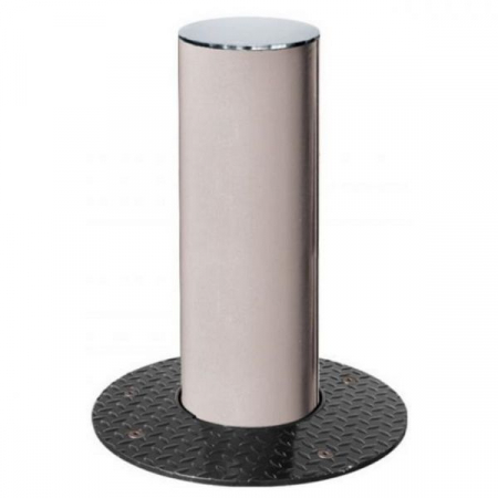 Steel Retractable Bollard with Stainless Steel Top