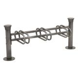 Modular Decorative 3 Space Cycle Rack