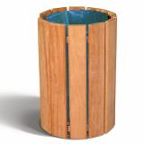 Cologne Timber Litter Bin - 60 Litre