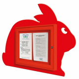 School Fun Bunny 2x A4 Poster Case