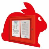 School Fun Bunny 2x A4 Poster Case