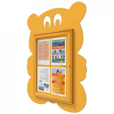 School Fun Teddy Bear 4x A4 Poster Case