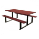 Riga Wood and Steel Picnic Table