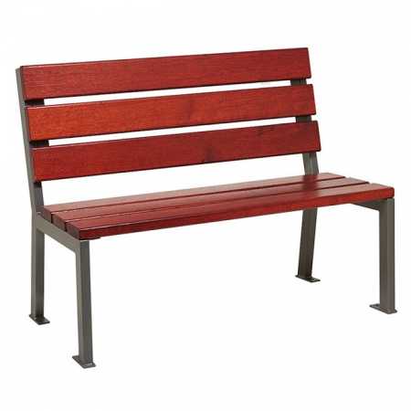 Silaos Wood and Steel Seat
