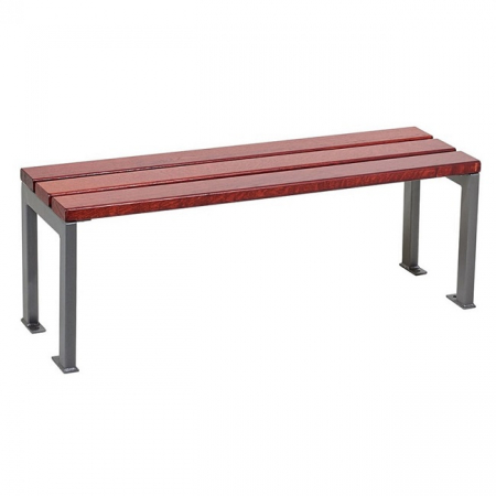Silaos Wood and Steel Bench