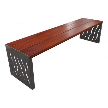 Venice Wood and Steel Bench