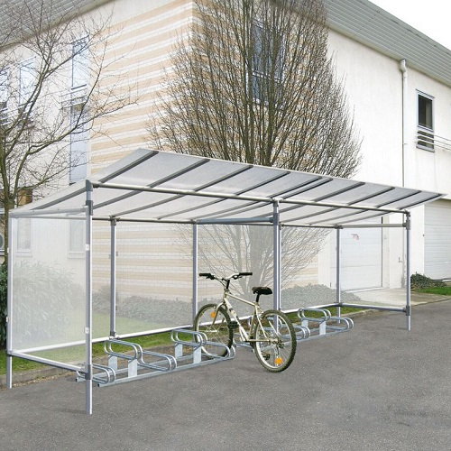 Metal Bicycle Shelters : Economy aluminium space bicycle shelter buy online