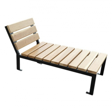 Silaos Wood and Steel Lounger