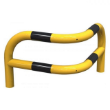 Yellow and Black Angled Corner Safety Barrier - L 580 x W 580 x H 430mm