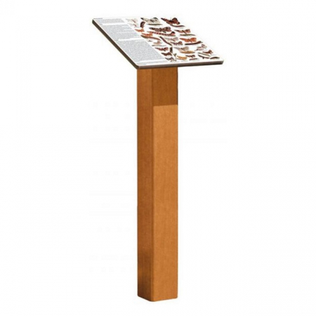 Wooden Information Display Lectern