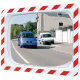 800 x 600mm Polymir Traffic Mirror with Red & White Frame