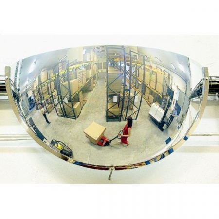 800mm Diameter Polymir Quarter-Sphere 180 Degree Industrial Safety Mirror