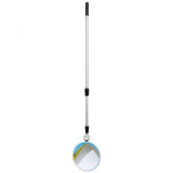 300mm Diameter Polymir Portable Inspection Mirror with 3 metre Telescopic Pole and LED Light