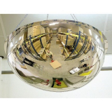 450mm Diameter PMMA Half Sphere 360 Degree Security and Surveillance Mirror