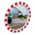 900mm Diameter P.A.S Traffic Mirror with Red & White Frame