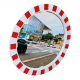600mm Diameter Polymir Traffic Mirror with Red & White Frame