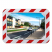 1000 x 800mm Polymir Traffic Mirror with Red & White Frame