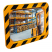 800 x 600mm P.A.S Yellow and Black Framed Industry and Workplace Mirror