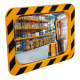 600 x 400mm Polymir Yellow and Black Framed Industry and Workplace Mirror