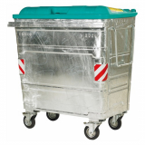 500 Litre Galvanised Steel Wheeled Container