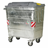 1280 Litre Galvanised Steel Wheeled Recycling Waste Container