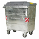 1100 Litre Galvanised Steel Wheeled Recycling Waste Container