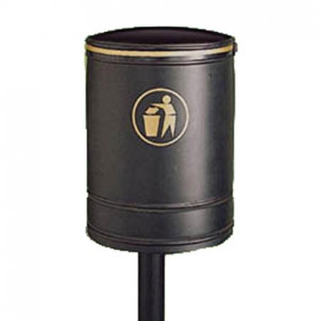 Nickleby Open Top Post Mountable Litter Bin - 40 Litre Capacity