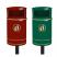 Nickleby Post Mountable Litter Bin - 40 Litre Capacity