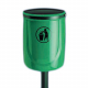 Osprey Open Top Post Mountable Litter Bin -  40 Litre